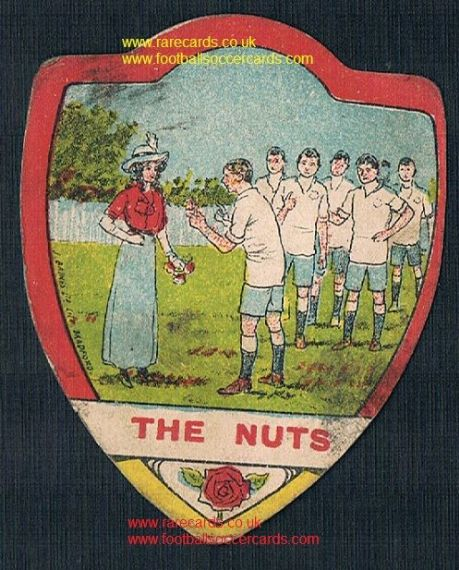 1910 English Lancashire K' Nuts (in may) Red Rose Lady & Lancs team